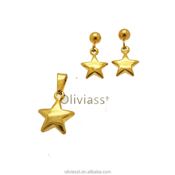 Olivia Trending Products 22k Gold Jewellery Dubai Whole Jewelry Set Price S006g