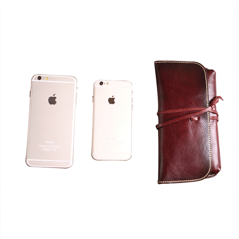 top quality leather wallet for iphone 6 wallet case