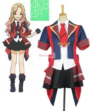 SunShine-AKB48 subunits Tomomi Itano Singing Uniform Anime Cosplay Costume