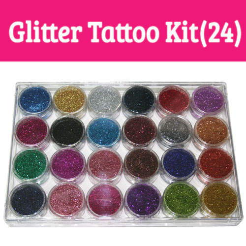 Glitter Tattoo Kit/Professionele Tattoo Kit/body glitter tattoo kit