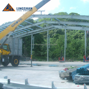 Structural Steel Prefabricated warehouse Sheds / Factory Types Portal Frame