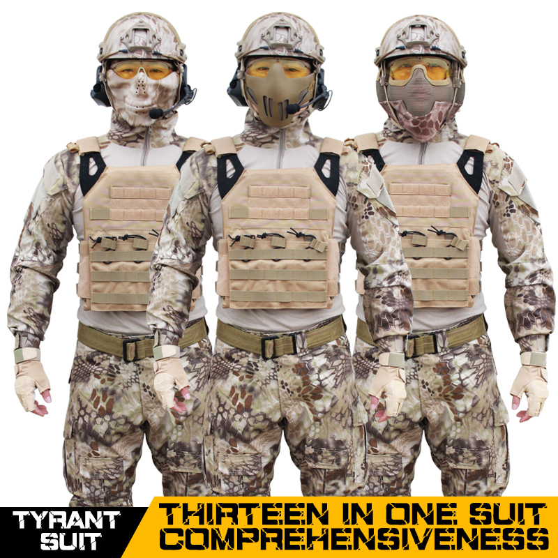Newest style military combat hunting camouflage clothing for body protection