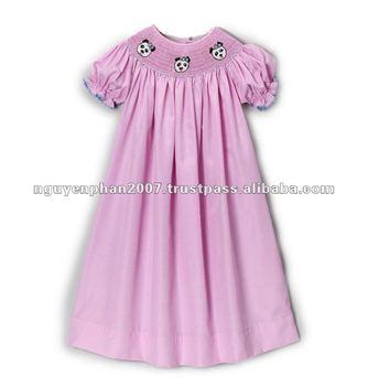 c8443d7d8 Pink Gingham Smocked Panda Bishop Dress - Toddler   Girls - Buy ...