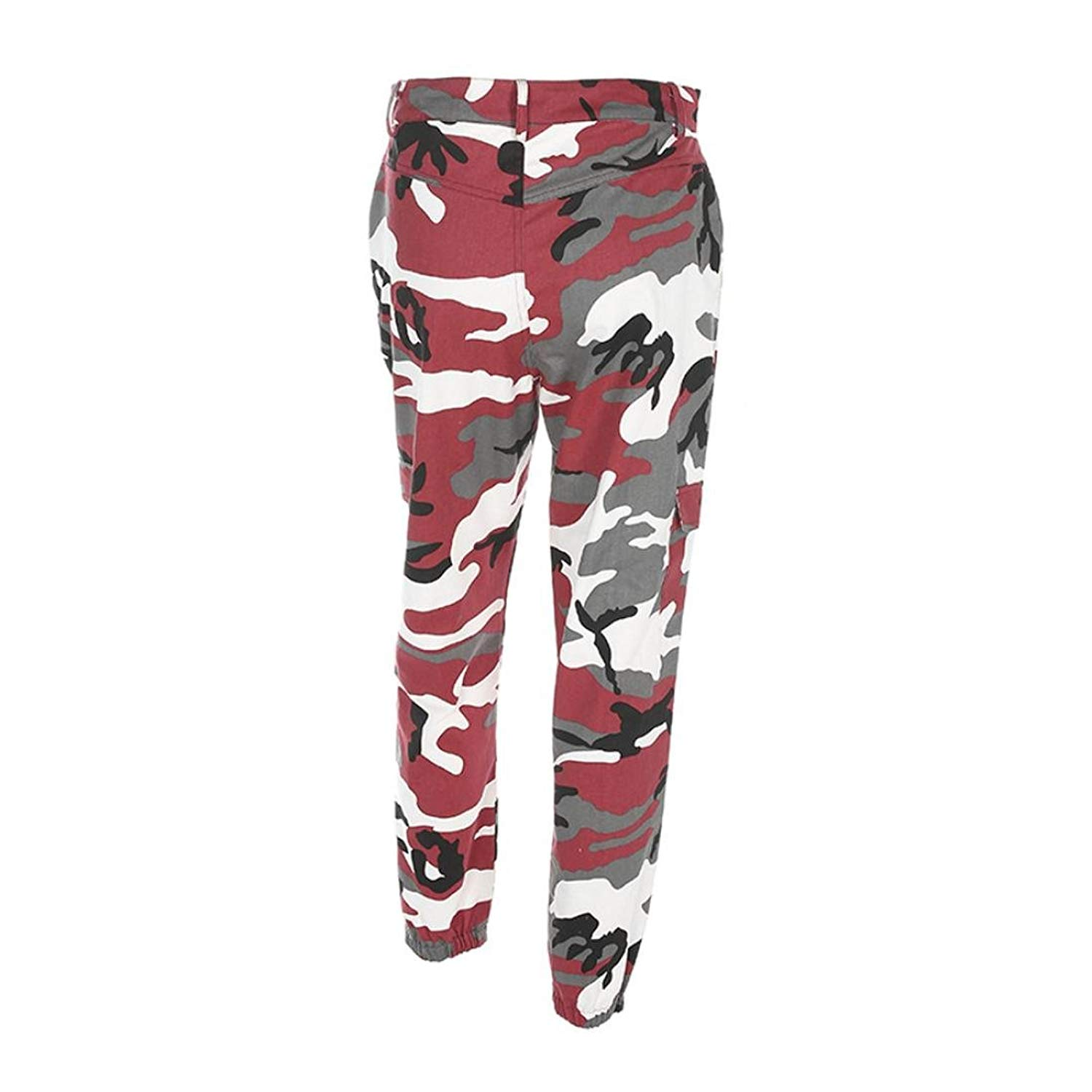 d5c0bed06a5 Get Quotations · Greatgiftlist Women Camouflage Trousers Loose Jeans Sports  Camo Cargo Pants Army Cargo Fatigues Denim Pants (