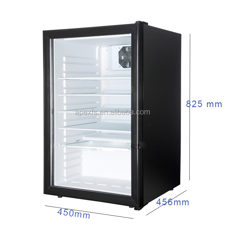 Clear Glass Refrigerator