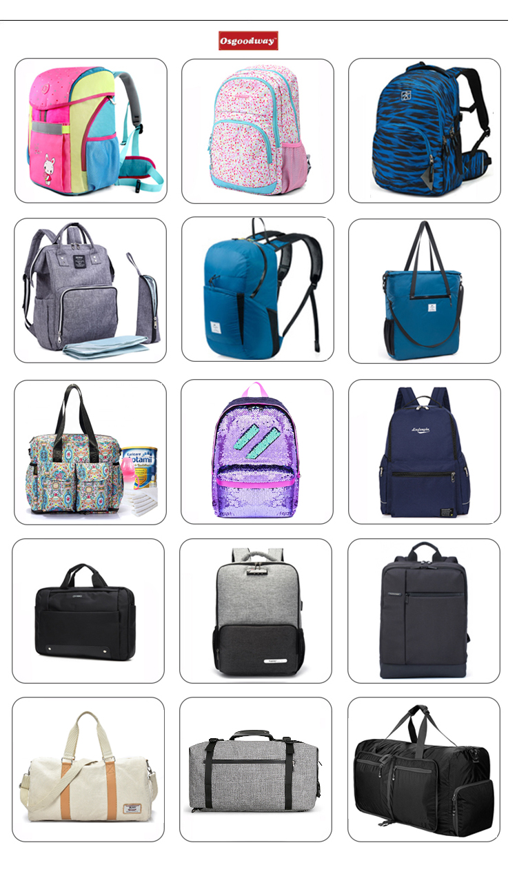 Osgoodway Wholesale All Over Print Ergonomic High Quality College School Bags Backpack