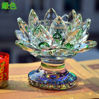 hot sale crystal lotus flower shaped candle holder for decorations