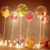 13/18/24/36 inch Bobo Transparent Balloon Inflatable Air Balls LED Luminous Balloon Birthday Wedding Party Decoration equipment