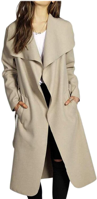Sankthing SANKT Girls Trench Coat Thick Tunic Autumn Winter Woolen Jacket