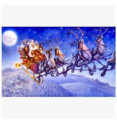 cross stitch sets cross stitch kits embroidery kit Here Comes Santa Claus
