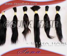 Good quality indian best natural bulkhair remy weft human hair extension