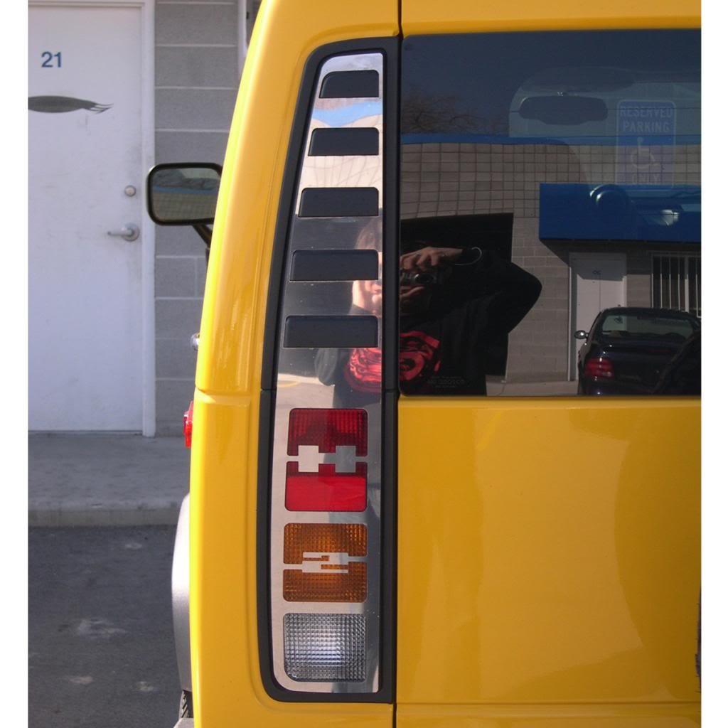 2005-2010 Hummer H3 Ferreus Industries Polished Stainless Tribal Brake Light Trim fits OTH-101-11