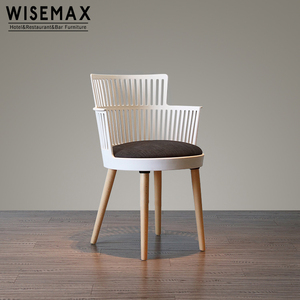 New Design polypropylene dining plastic round chairs with legs wood