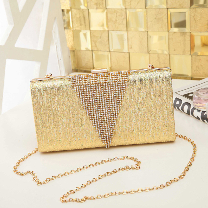 DW0152 Lady Crystal Clutch Purse Rhinestones Evening Clutch Crossbody Bag Party Wedding Purses for Women