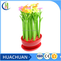 soft silicone flower shape cheap ball pen for students and kids