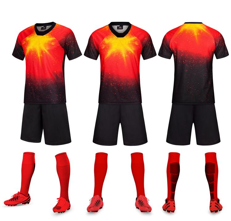 China Supplier 100% Polyester Cheap Custom Football Jersey Soccer Uniform For Teams, Custom color