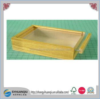 hochwertigem holz geschenkbox mit schiebet ren plexiglas deckel buy product on. Black Bedroom Furniture Sets. Home Design Ideas
