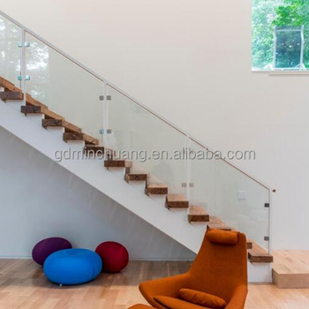 U Channel Stairs Frameless Glass Railing Staircase