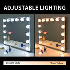 Make Mirror BEAUTME Hollywood Salon Vanity Make Up Wall Bathroom Makeup Mirror With LED Light Bulb Lamp
