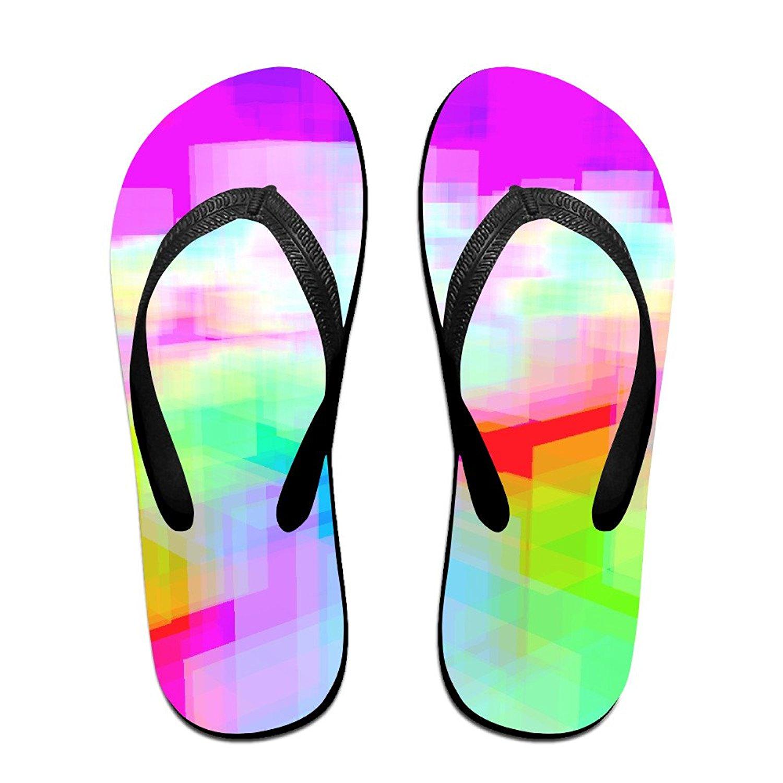 Jinqiaoguoji Custom Casual Glare Blurred Shape Light Womens Sandals Beach Sandals Pool Party Slippers Flip Flops