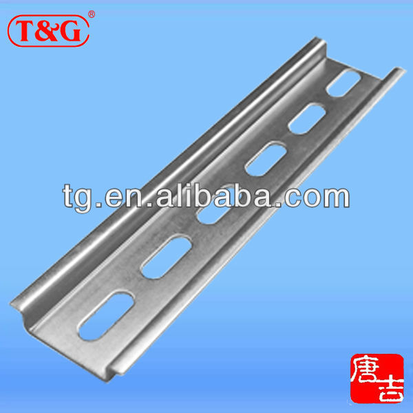 Hot dip galvanized zinc plating steel mounting din rail