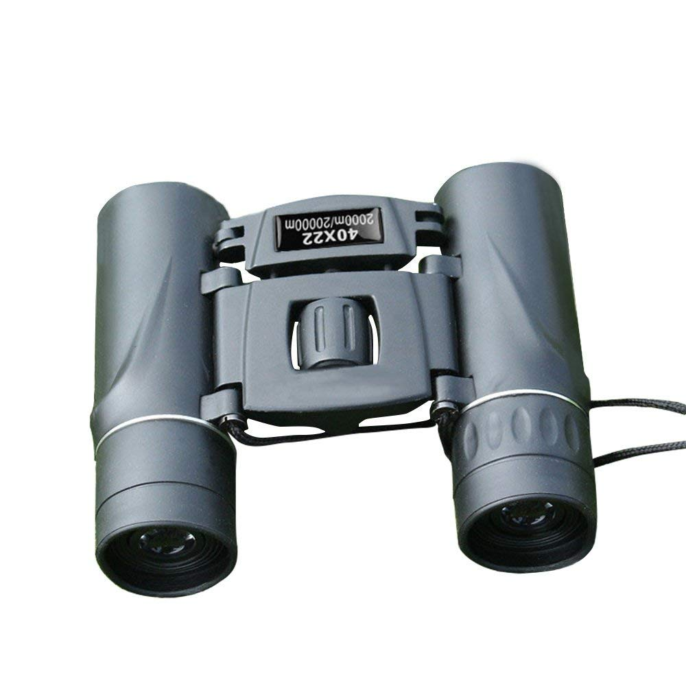 DUYI Small Compact Lightweight Binoculars for Adults and Kids,40 X 22 Folding High Powered Binoculars With Weak Light Night Vision for Bird Watching, Hunting, Outdoor Sports, Concerts