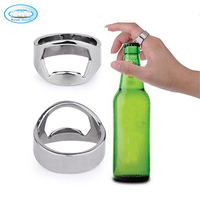 Hot Popular High Quality Fast Delivery Life Size Wholesale China Stainless Steel Finger Ring Style Beer Cocktail Bottle Openers