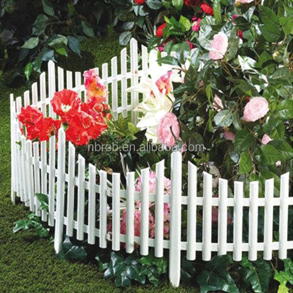 Mini White Flexible Garden Lawn Edging Plastic Garden Fence