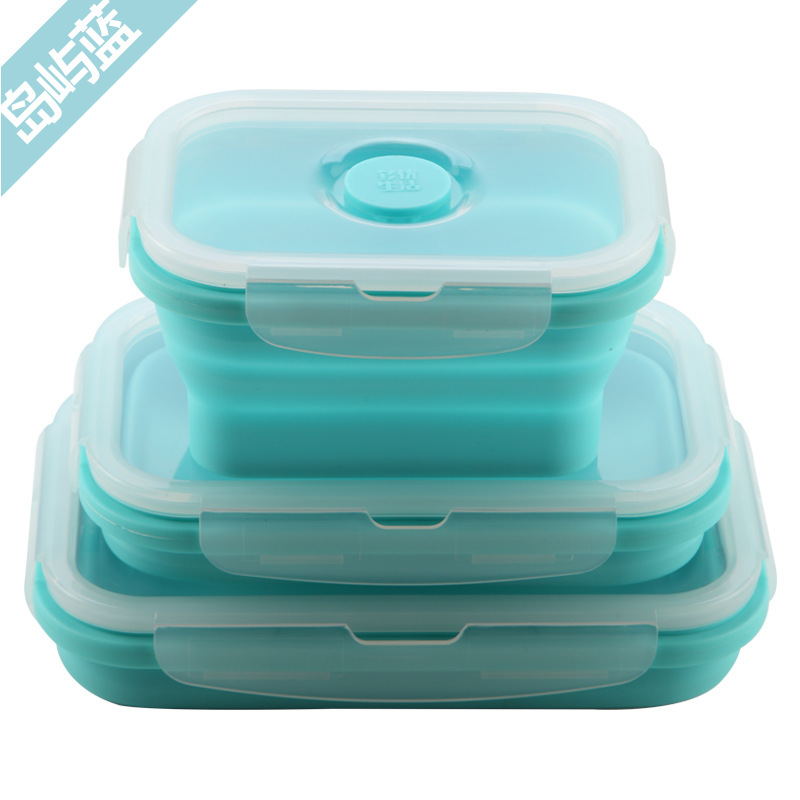Goedkope Draagbare Hot Case Lunxh Box Opvouwbare Silicon Lunchbox Voor Voedsel Wegnemen