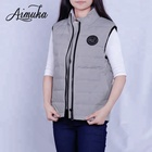 Stylish Women Puffer White Duck Down Vests Outdoors