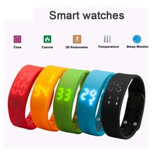 2016 Rushed Step W2 Smart Band Watch Slim Bracelet Wristband Fitness Tracker 3d Pedometer Sleep Monitor Thermometer Fuelband Tim