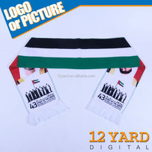 UAE union spirit sublimation heated transfer printed national scarf