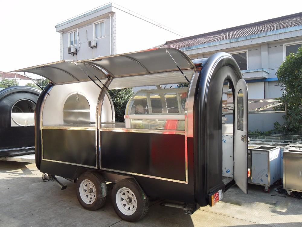 Mobile voiture churros alimentaire remorque pour vente for A l interieur trailer