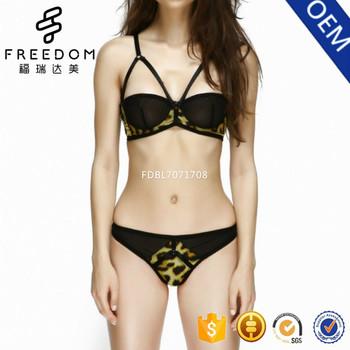 Wanita super sexy strappy 38 ukuran baru desain pakaian bra dan paty set  dalam gambar 55c51f6c8f