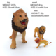 Hot style Mini lion animal, plastic baby toy teaching toy spromotion product