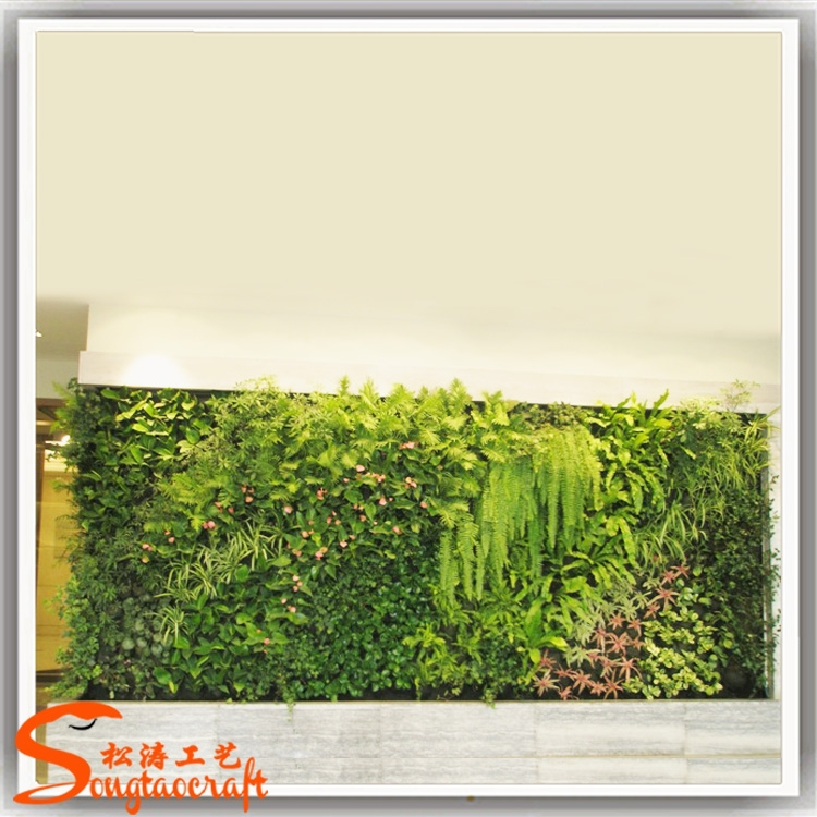 verde falsa pared de jardn vertical materiales mdulos
