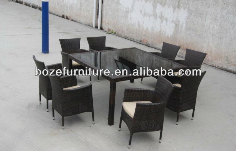 8 sitz business ess-set rattan gartenmöbel/lare quadratischen, Esstisch ideennn