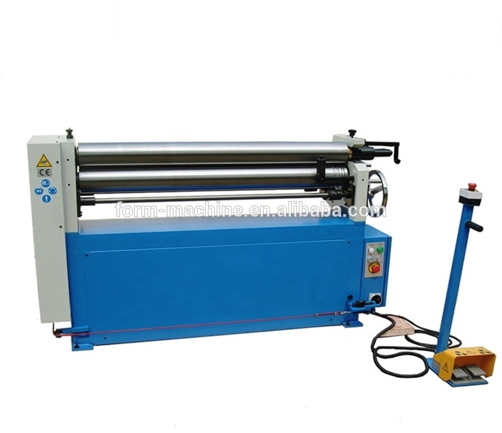 Mechanical Manual 3 Roller sheet metal iron slip rolling Bending Machine with electric adjustment