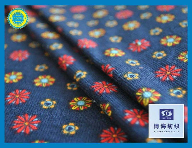 100% Cotton Corduroy 16 Wale Floral Dyed Ground Corduroy Cotton Fabric All Over Printed Corduroy Fabric Factory In Huzhou