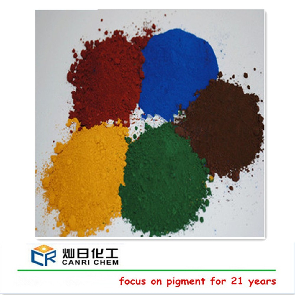 colour material paving tiles iron oxide fe2o3 and green color ferric oxide pigment