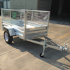 Good Quality Galvanizing Single Axle Cage Small Box Trailers For Sale