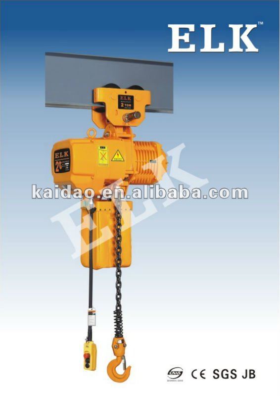 3Tonne crane hoist with manual trolley used on beam