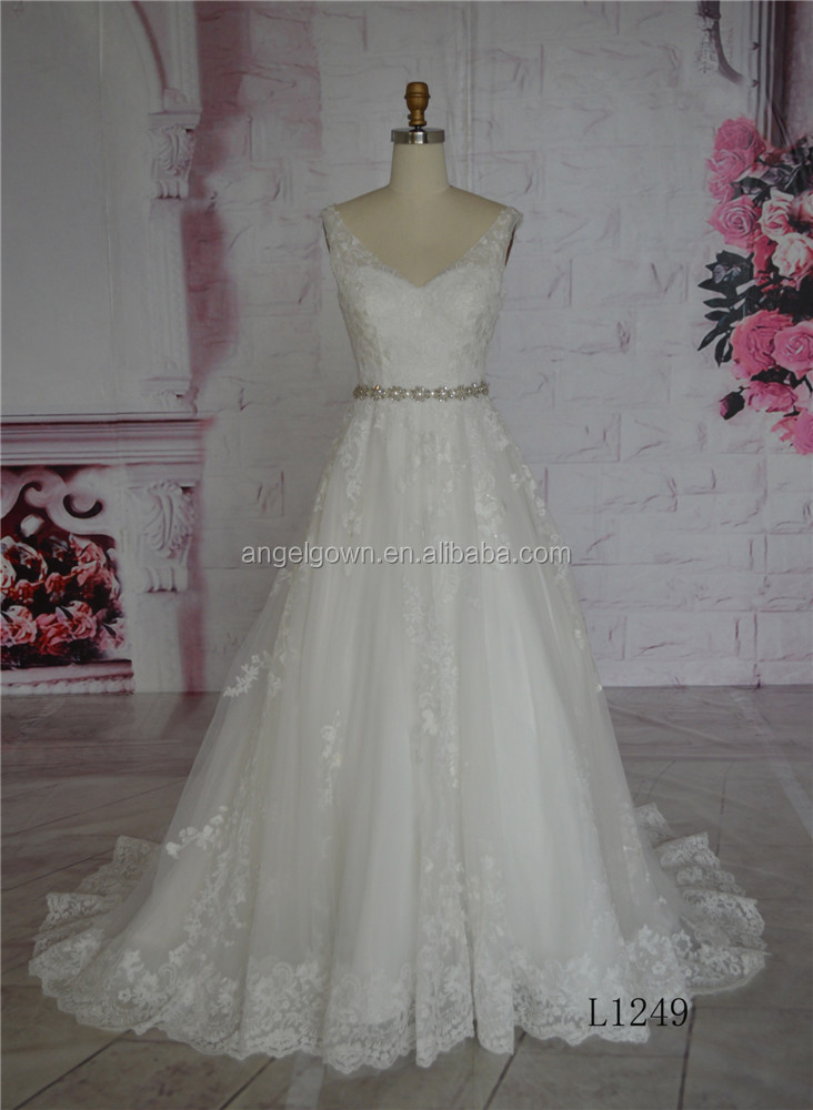 korean style backless wedding dress ball gown