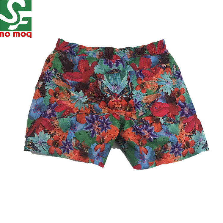 Nuovo design beach shorts quick dry mens digital print surf board shorts