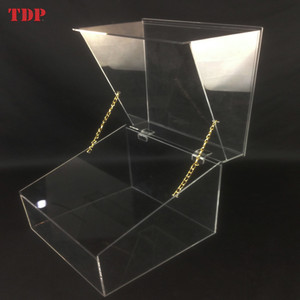 Wedding Large Decorative Wholesale Plastic Clear Storage Box Acrylic Storage Trunk with Lid