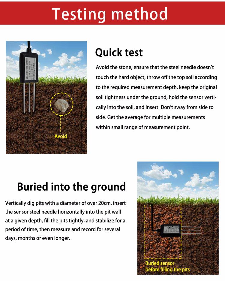 Digital RS485 output Soil moisture meter detection module probe + soil humidity sensor