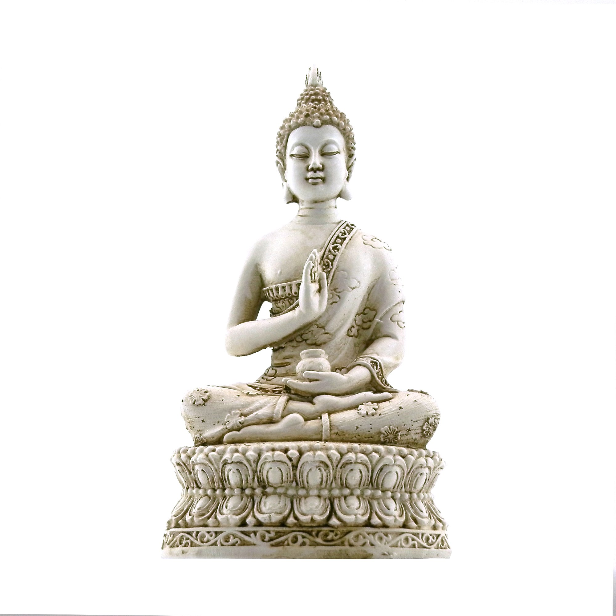 Cheap ivory buddha find ivory buddha deals on line at alibaba get quotations ornerx thai sitting buddha statue for home decor ivory 67 mozeypictures Images