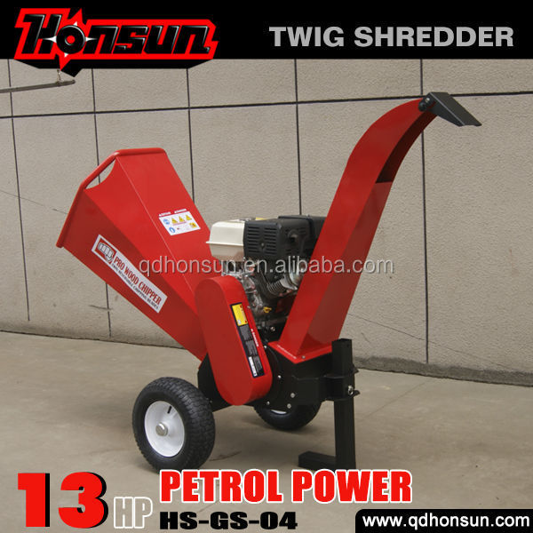 With 2 years warranty advanced production technology 13.5HP B&S gas engine fast heavy duty garden shredders and chippers