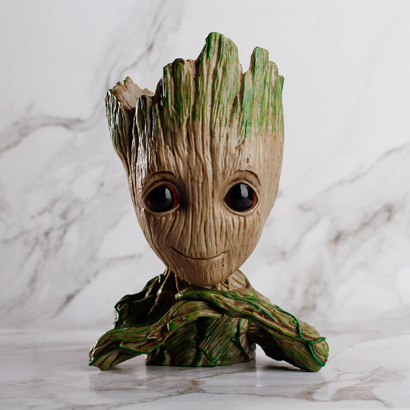 Guardians of the Galaxy 2 Flowerpot Baby Groot Action Figures Cute Model Toy Pen Pot Best Tree Man Model Groot pot