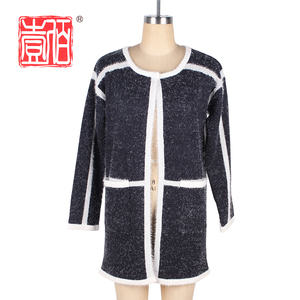 alibaba china long fashion coat design of hand made sweaters for women